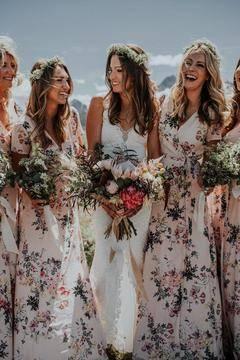 转发 别再愁啦!直接把这些图给你的新娘看,超般配的新娘婚纱和伴娘礼服~