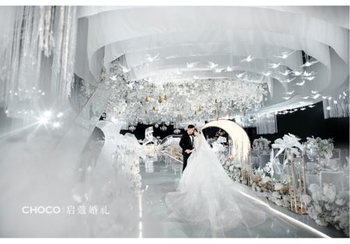 国内婚礼案例精选|她的白金色系超唯美浪漫婚礼